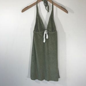 Lucky Brand Army Green Terry Bathing Suit Cover Up